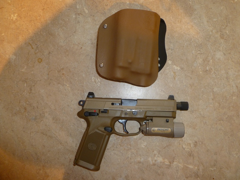 FN45 w/ light Paddle holster